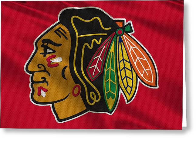 Chicago Blackhawks Uniform Greeting Card by Joe Hamilton