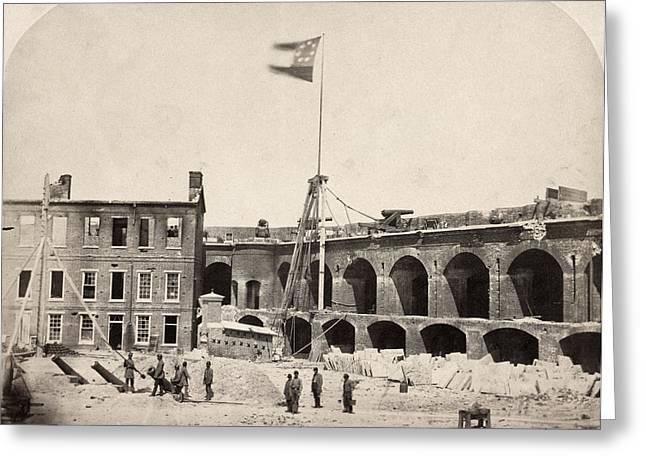 Civil War Fort Sumter, 1861 Greeting Card by Granger