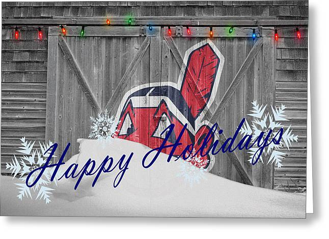 Cleveland Indians Greeting Card by Joe Hamilton