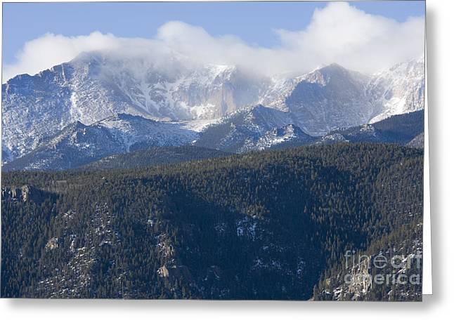 Cloudy Peak Greeting Card