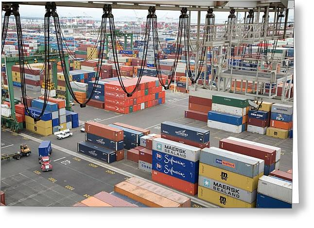 Container Port Greeting Card