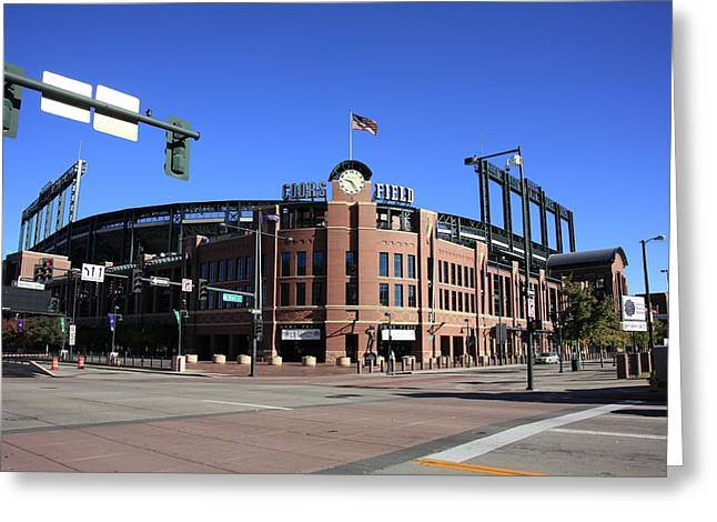 Coors Field - Colorado Rockies Greeting Card by Frank Romeo