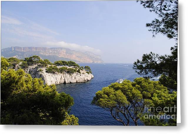 Beautiful View At The Bay On Cote D'azur Greeting Card by Maja Sokolowska