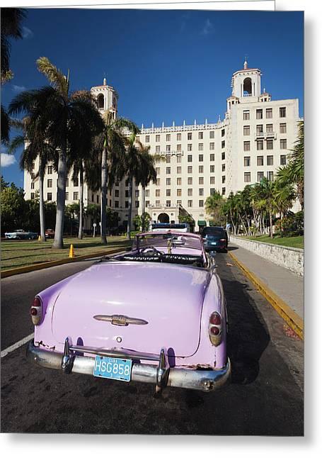 Cuba, Havana, Vedado, Hotel Nacional Greeting Card by Walter Bibikow