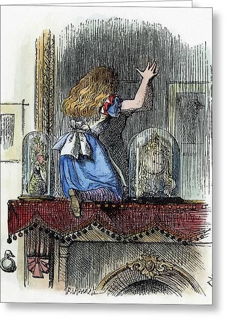 Dodgson Looking Glass Greeting Card by Granger