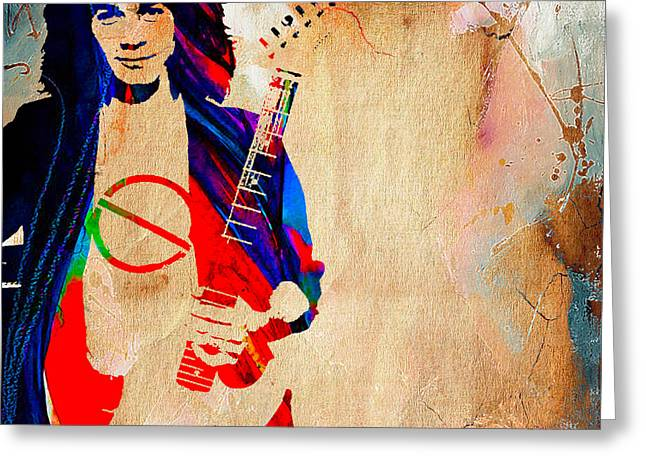 Eddie Van Halen Greeting Card