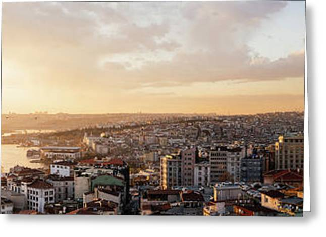 Elevated View Of Cityscape Greeting Card by Panoramic Images
