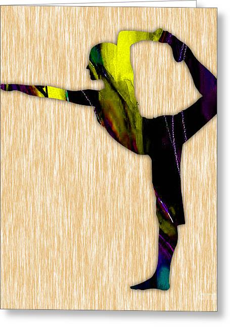Fitness Yoga Greeting Card