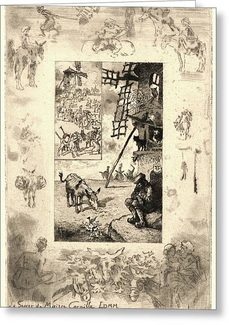 Félix Hilaire Buhot French Greeting Card by Litz Collection