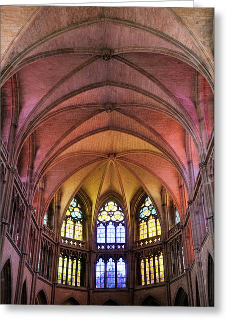 France, Burgundy, Nievre, Nevers Greeting Card