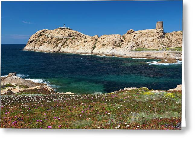 France, Corsica, La Balagne, Ile Greeting Card by Walter Bibikow