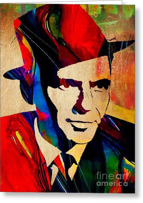 Frank Sinatra Art Greeting Card by Marvin Blaine