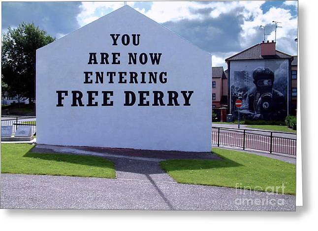 Free Derry Corner 4 Greeting Card