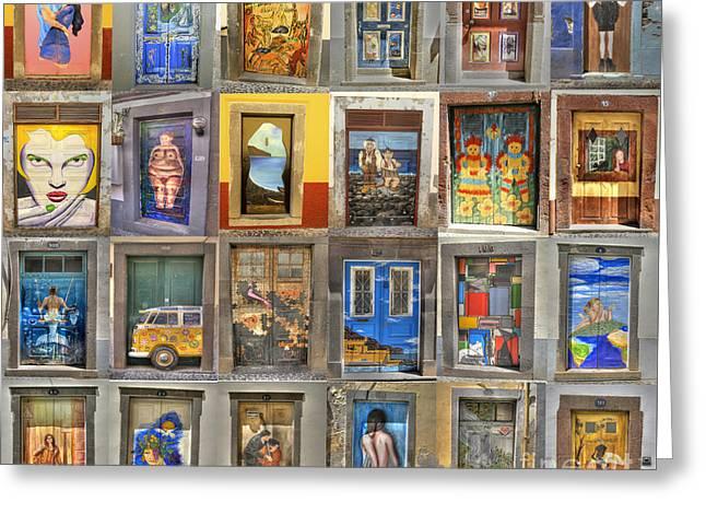 Funchal Door Art Greeting Card