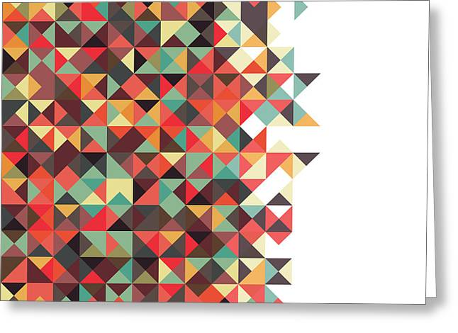 Geometric Art Greeting Card