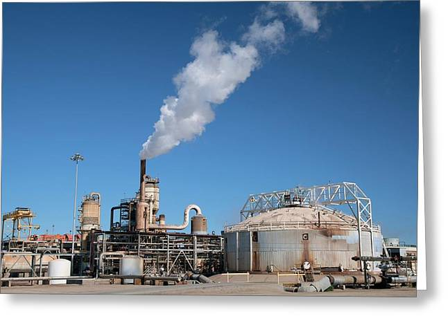 Geothermal Power Plant Greeting Card by Jim West