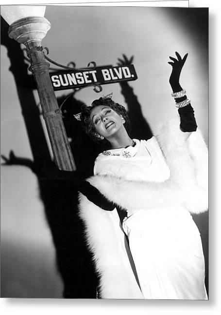 Gloria Swanson Greeting Card
