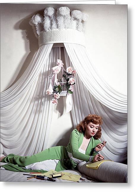 Greer Garson Greeting Card by Silver Screen