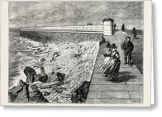 Inauguration Of The Holyhead Breakwater And Harbour Greeting Card