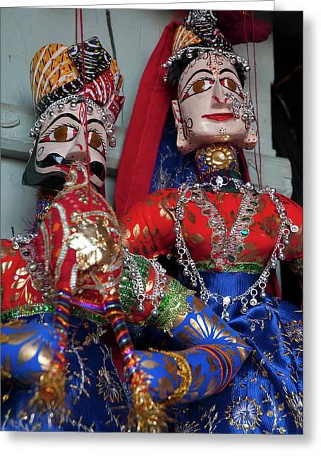 Kathputli, Traditional Rajasthani Greeting Card by Inger Hogstrom