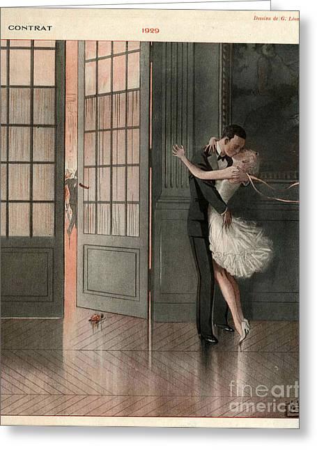 La Vie Parisienne 1929 1920s France Cc Greeting Card