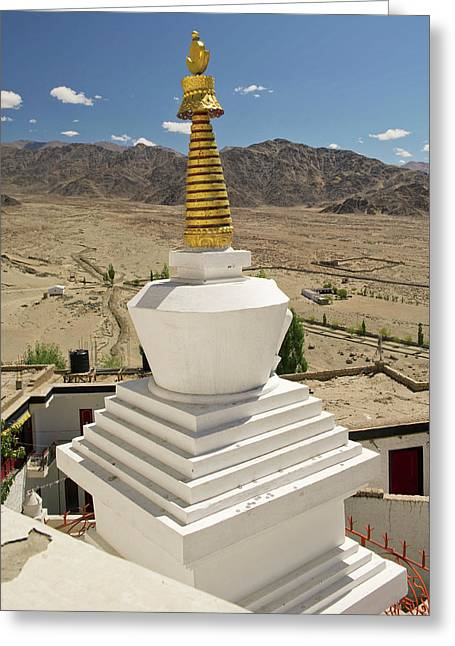 Ladakh, India Religious Structures Greeting Card by Jaina Mishra