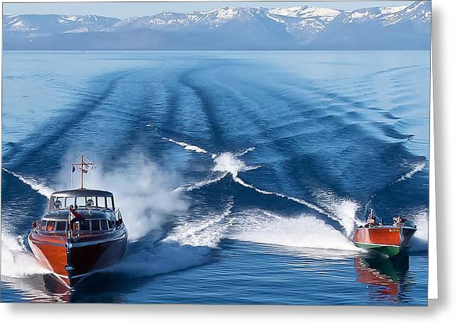Lake Tahoe Wooden Boats Greeting Card by Steven Lapkin