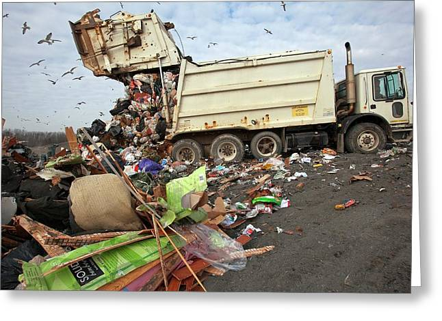 Landfill Site Greeting Card by Jim West