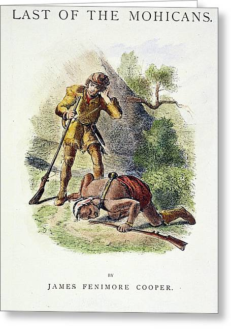 Last Of The Mohicans, 1872 Greeting Card