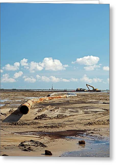 Louisiana Wetlands Restoration Project Greeting Card by Jim West