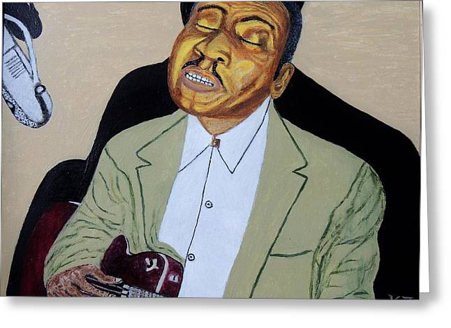 Mannish Boy. Muddy Waters. Greeting Card by Ken Zabel