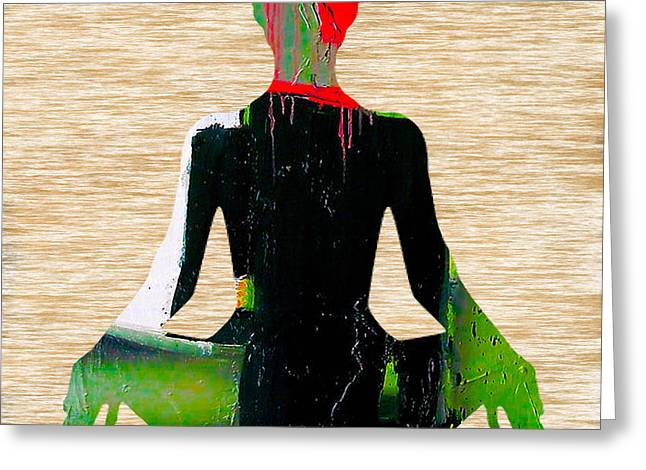 Meditation Greeting Card by Marvin Blaine