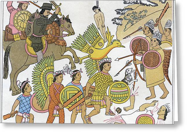 Mexico Spanish Conquest Greeting Card