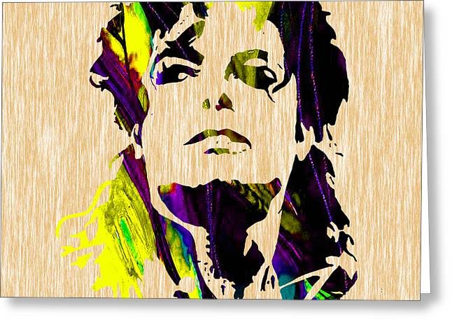 Michael Jackson Painting Greeting Card by Marvin Blaine