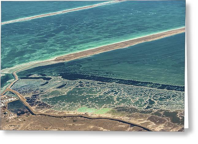 Mineral Pools Area, Dead Sea Greeting Card