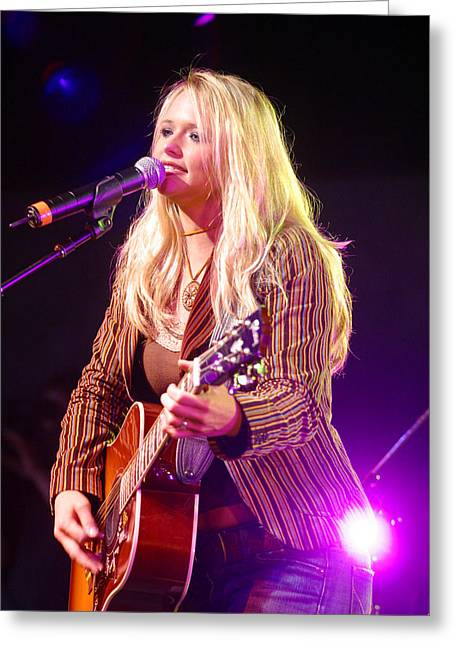 Miranda Lambert Greeting Card