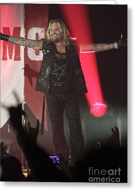 Motley Crue Greeting Card by Concert Photos