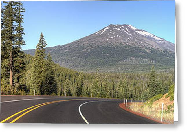 Mount Bachelor Greeting Card by Twenty Two North Photography