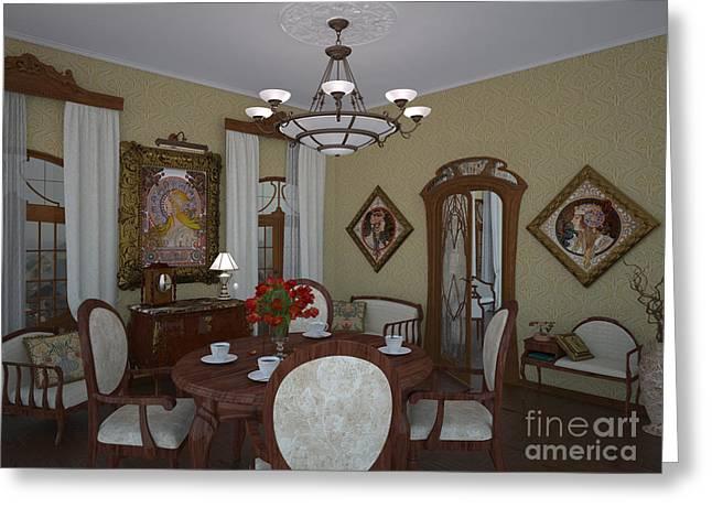 My Art In The Interior Decoration - Elena Yakubovich Greeting Card by Elena Yakubovich