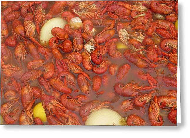 New Orleans French Quarter Cajun Food Seafood By Art504 Greeting Card