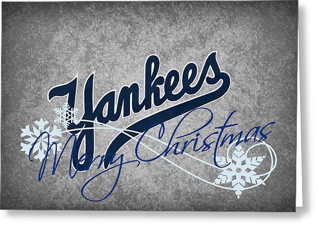 New York Yankees Greeting Card by Joe Hamilton
