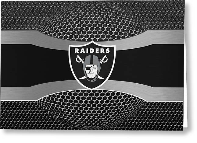 Oakland Raiders Greeting Card