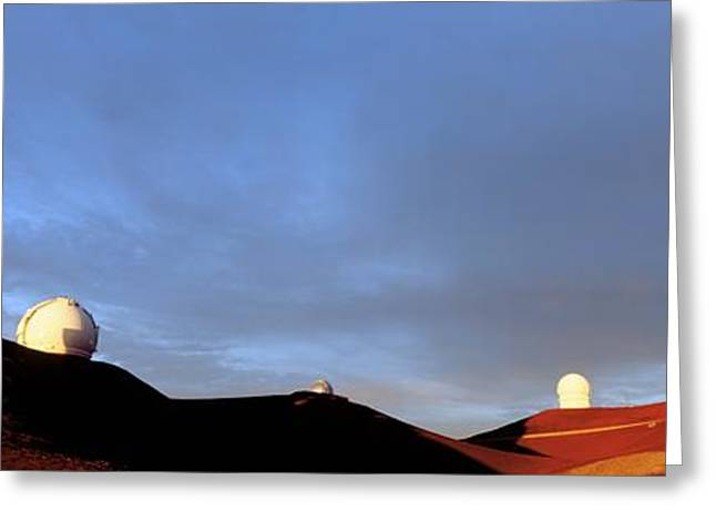 Observatories On Summit Of Mauna Kea Greeting Card by David Nunuk