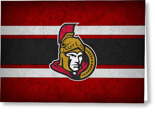 Ottawa Senators Greeting Card by Joe Hamilton