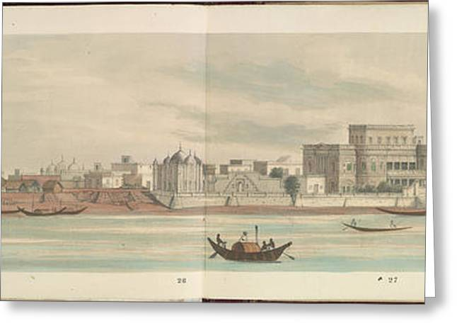 Panorama Of The City Of Dacca Greeting Card by British Library