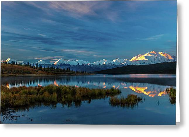 Panoramic View Of Mount Denali Greeting Card