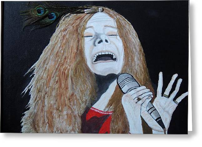 Piece Of My Heart. Janis. Greeting Card by Ken Zabel