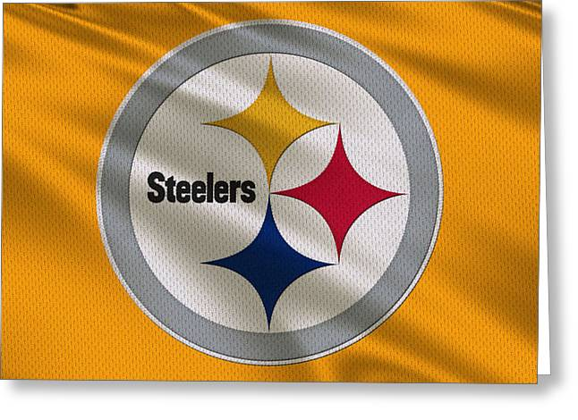 Pittsburgh Steelers Uniform Greeting Card by Joe Hamilton