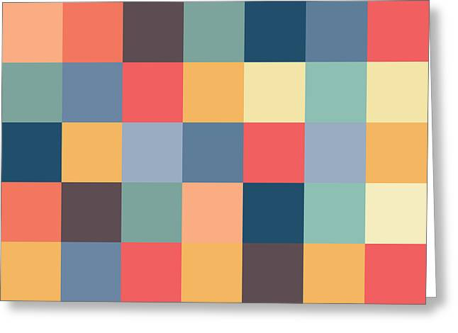 Pixel Art Square Greeting Card