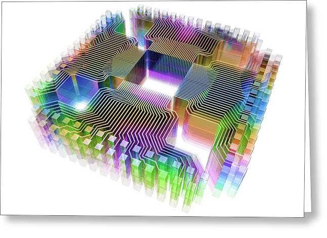 Quantum Computer Greeting Card